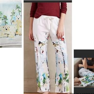 Anthropologie Voutsa Winter wonderland pants new